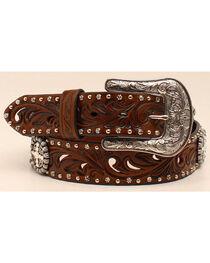 Ariat Women's Concho & Cutout Leather Belt, , hi-res
