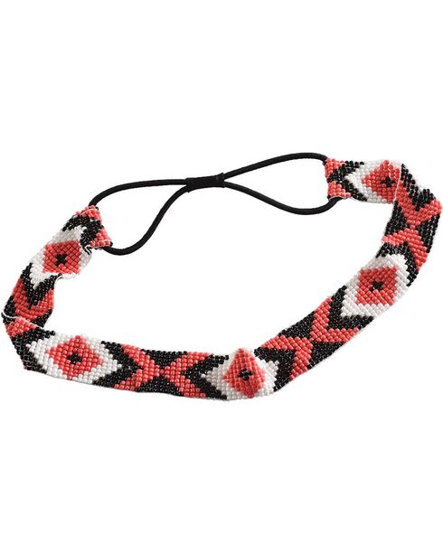 Silver Strike Women's Aztec Beaded Headband, Multi, hi-res
