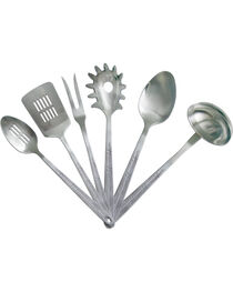 Moss Brothers 6-Piece Barbwire Stainless Steel Serving Set  , Silver, hi-res