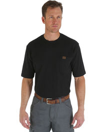 Wrangler Men's Riggs Pocket T-Shirt, Black, hi-res