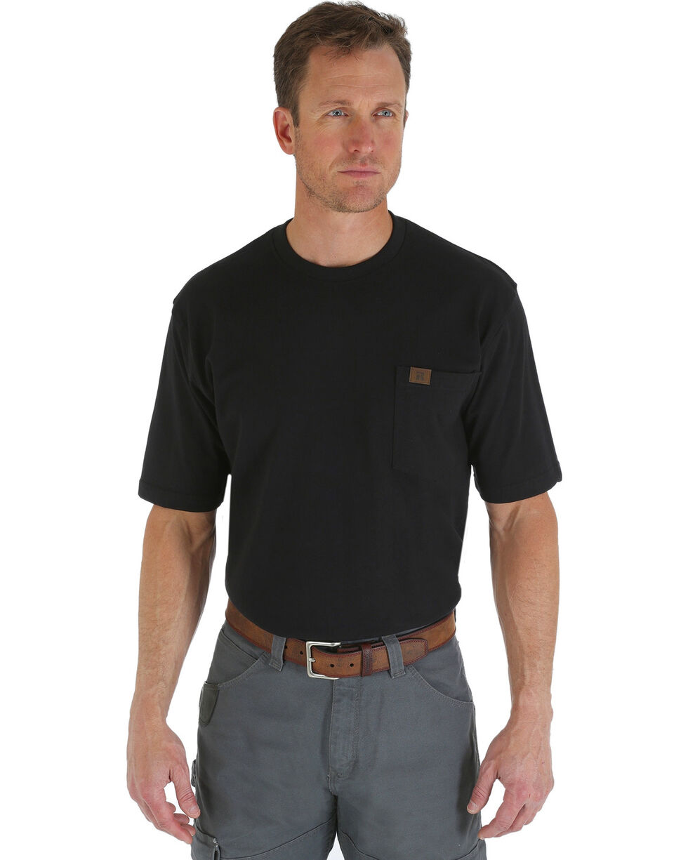 Wrangler Men's Riggs Pocket T-Shirt, Black, hi-res
