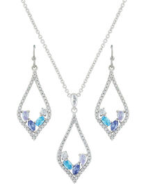 Montana Silversmiths Women's River Of Lights At The Water's Edge Teardrop Jewelry Set , , hi-res