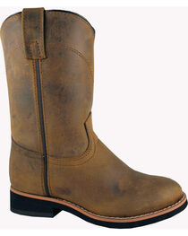 Smoky Mountain Toddler Boys' Muskogee Roper Western Boots - Round Toe, , hi-res