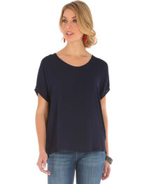 Wrangler Women's Dolman Top with Back Taping, , hi-res