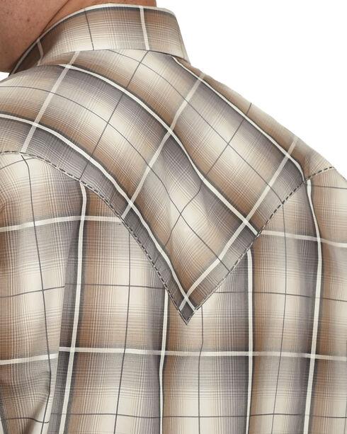 Stetson Men's Grey Ombre Snap Front Western Shirt , Grey, hi-res