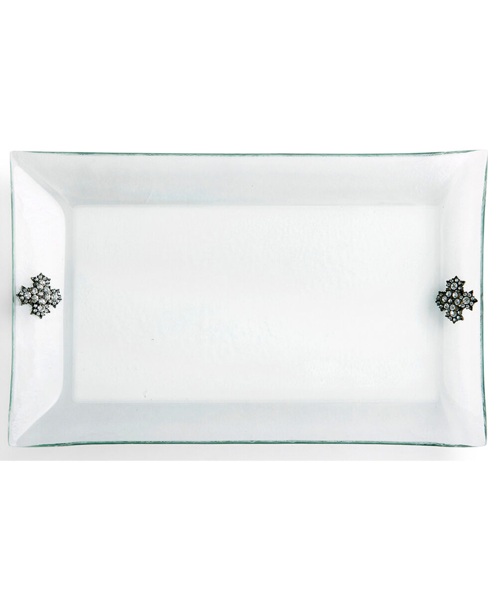 Demdaco Embellished Glass Platter , No Color, hi-res