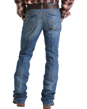 Cinch Men's Ian Mid-Rise Slim Fit Boot Cut Jeans, Indigo, hi-res