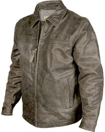 STS Ranchwear Men's Rustic Rifleman Leather Jacket, , hi-res