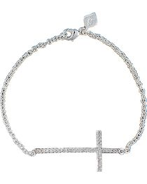 Montana Silversmiths Women's Straight Path Cross Bracelet, , hi-res