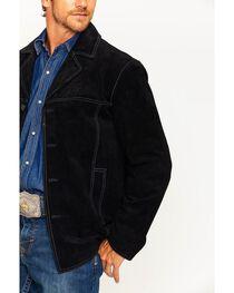 Scully Men's Black Boar Suede Car Coat , , hi-res