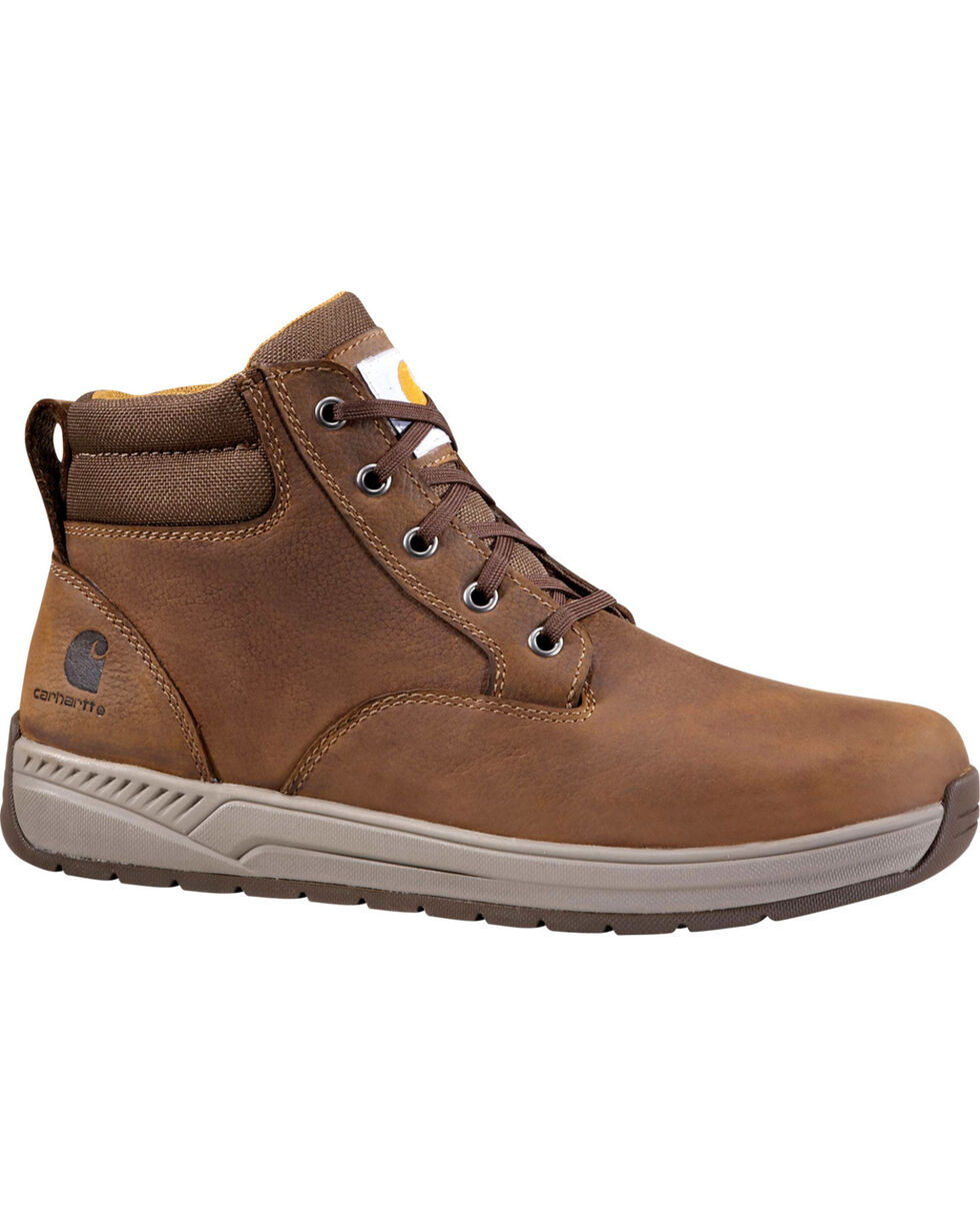 "Carhartt Men's 4"" Brown Lightweight Wedge Boots - Round Toe, Chocolate, hi-res"