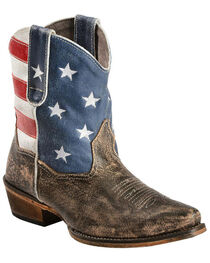 Roper Women's American Beauty Flag Ankle Boots, , hi-res