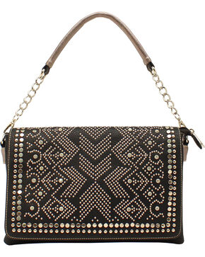 Blazin Roxx Women's Studded Shoulder Satchel, Black, hi-res