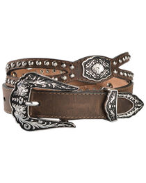 Nocona Fancy Cutout Belt, , hi-res