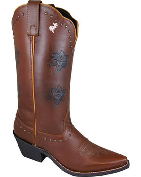 Smoky Mountain Women's Lilac Western Boots - Snip Toe , Brown, hi-res
