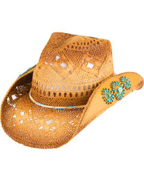 Peter Grimm Women's Chogan Beaded Cowgirl Hat, , hi-res