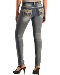 Grace in LA Women's Aztec Embellished Skinny Jeans , , hi-res