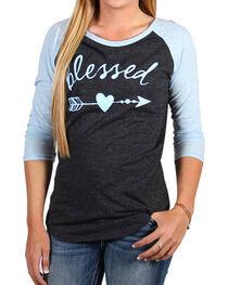 "Luna Chix Women's ""Blessed"" Baseball Tee, , hi-res"