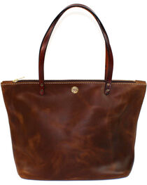 SouthLife Supply Women's Aged Bourbon Zippered Square Tote, , hi-res