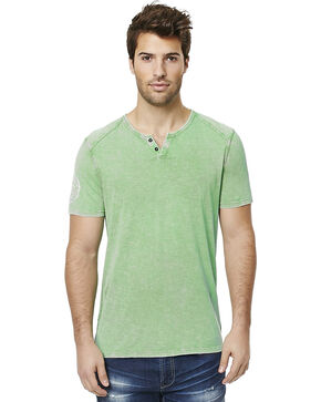 Buffalo Men's Green Narwayne Slit Neck T-Shirt , Green, hi-res