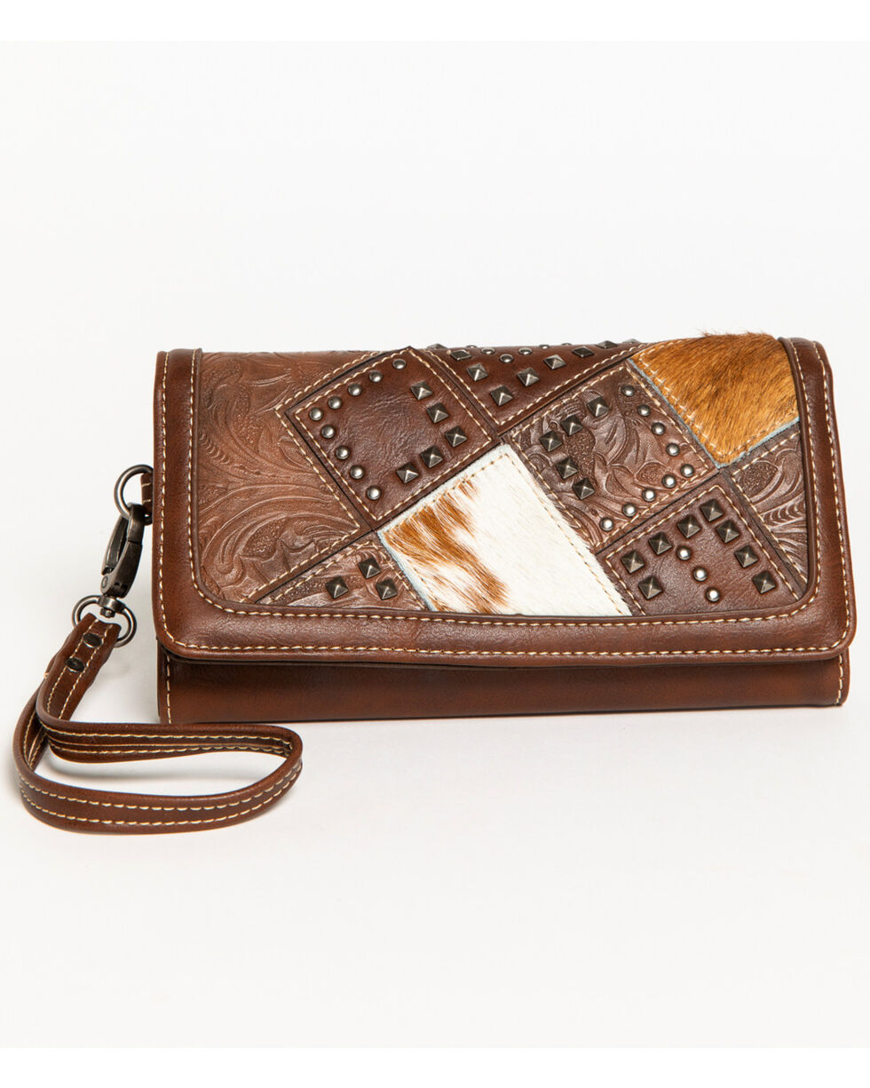 Shyanne Women's Calf Hair Patchwork Wallet Wristlet, , hi-res
