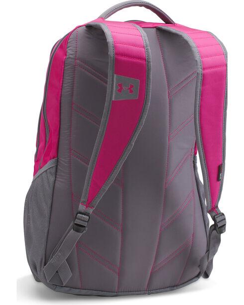 Under Armour Girls' Tropic Pink Storm Hustle II Backpack , Pink, hi-res