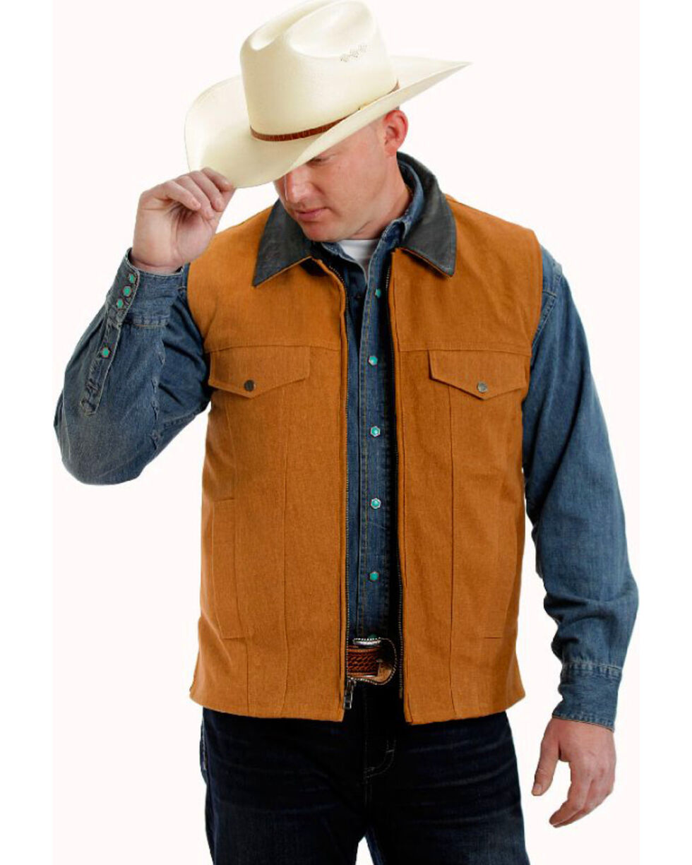 Colorado Saddlery Tan Conceal Carry Vest, Tan, hi-res