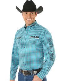 Wrangler Men's RAM® Rodeo Plaid Long Sleeve Shirt, , hi-res