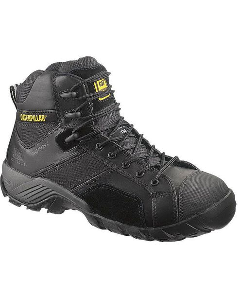 "Caterpillar 6"" Argon Waterproof Lace-Up Work Shoes - Composition Toe, , hi-res"