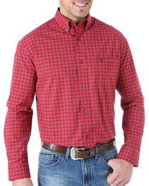 Wrangler 20X Check Patterned Long Sleeve Shirt, , hi-res