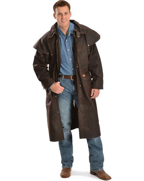 Outback Men's Low Ride Duster Coat, Brown, hi-res