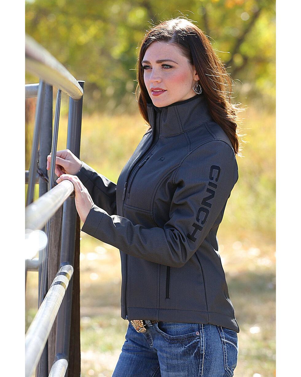 Cinch Women's Black Herringbone Printed Bonded Jacket , , hi-res