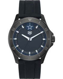 Jack Mason Men's Dallas Blackout Silicone Watch , , hi-res
