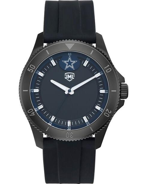 Jack Mason Men's Dallas Blackout Silicone Watch , Black, hi-res