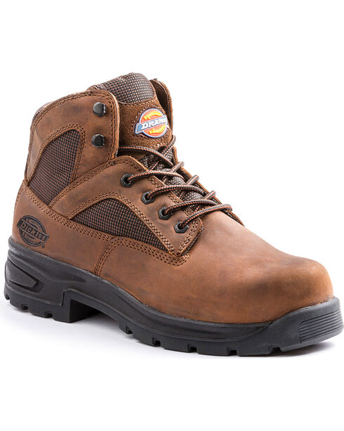 Dickies Men's Brown Buffer Work Boots - Steel Toe, Brown, hi-res