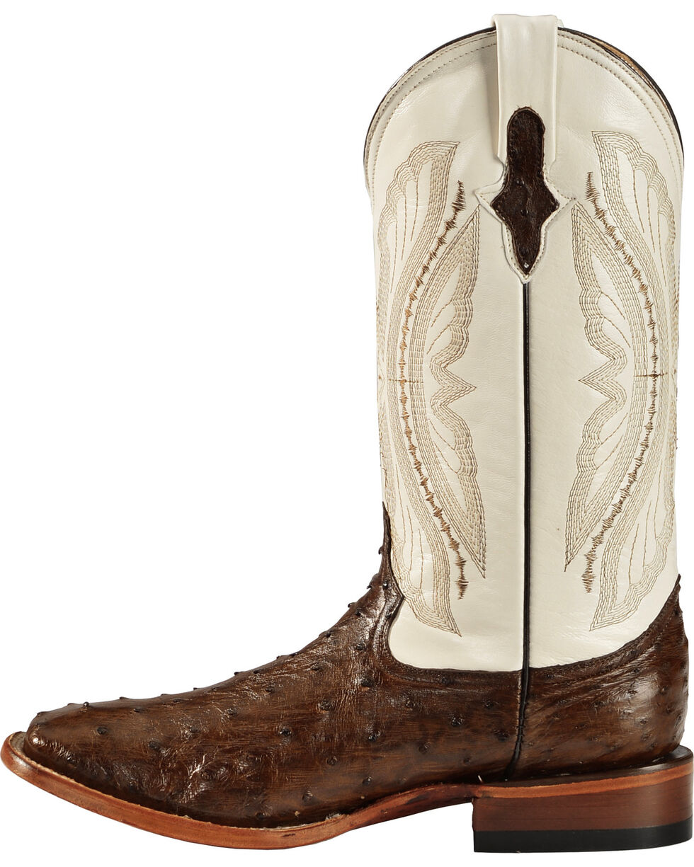 Ferrini Men's Kango Full Quill Ostrich Cowboy Boots - Wide Square Toe, Kango, hi-res