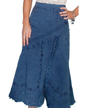 Scully Women's Soutache Skirt, Dark Blue, hi-res