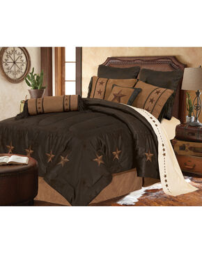 HiEnd Accents Laredo Star Embroidery Bed In A Bag Set - Full Size, Chocolate, hi-res