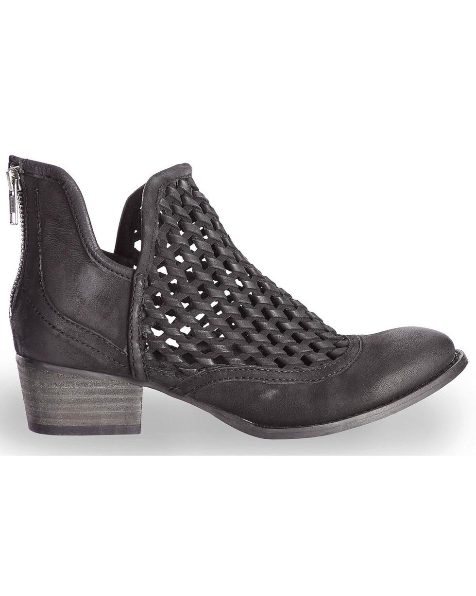 Very Volatile Women's Hudsun Black Woven Booties, Black, hi-res