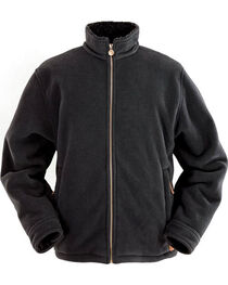 Outback Trading Co. Men's Charcoal Summit Fleece Jacket , , hi-res