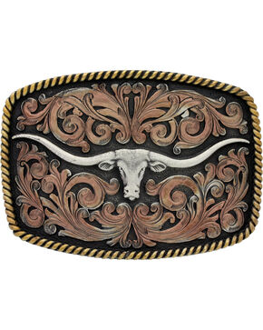 Montana Silversmiths John Wayne Longhorn Buckle, Multi, hi-res