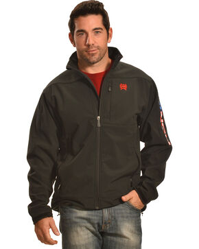 Cinch Men's American Flag Logo Bonded Jacket, Black, hi-res