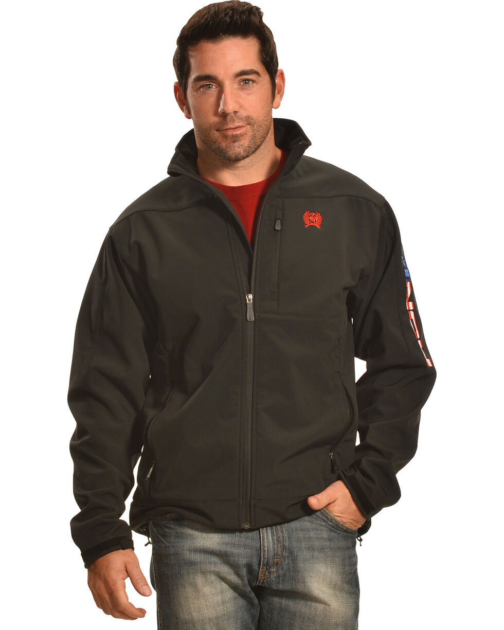 Cinch Men's American Flag Logo Bonded Jacket, , hi-res