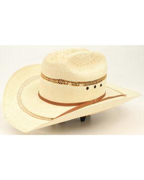 Ariat Youth Straw Cowboy Hat, Tan, hi-res