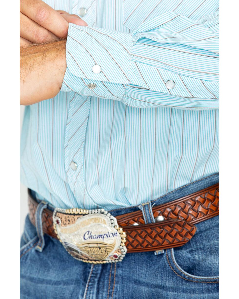 Resistol Men's Smith Valley Long Sleeve Snap Shirt, Blue, hi-res