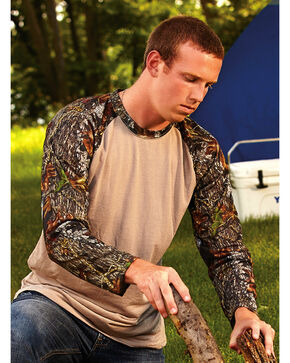 Wilderness Dreams Mossy Oak Break-Up Long Sleeve Raglan, Camouflage, hi-res
