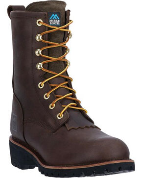 McRae Men's Logger Work Boot, Brown, hi-res