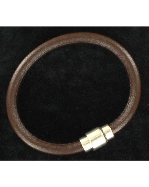 Twister Men's Smooth Band Bracelet , Brown, hi-res