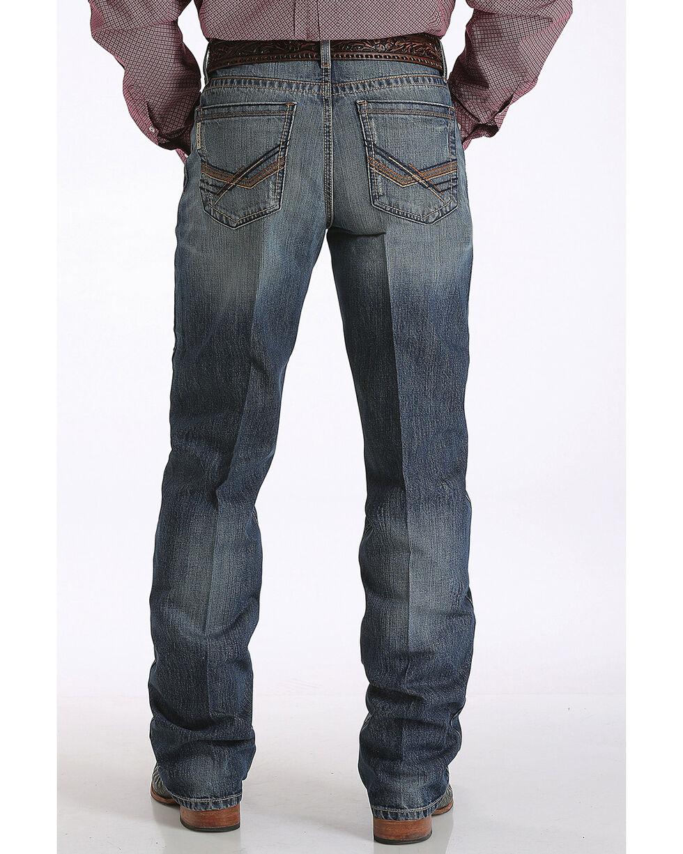 Cinch Men's Grant Relaxed Fit Dark Stonewash Jeans - Boot Cut, Indigo, hi-res