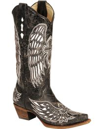 Corral Women's Wing and Cross  Snip Toe Western Boots, , hi-res
